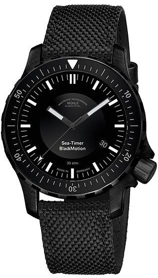 Mühle-Glashütte Sea-Timer Black Motion