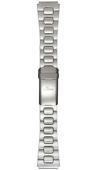 Sinn stainless steel band, two-link, pearl blasted, 20mm
