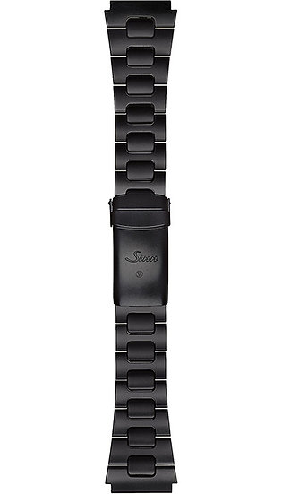 Sinn stainless steel band, two-link, Tegimented black, 22mm