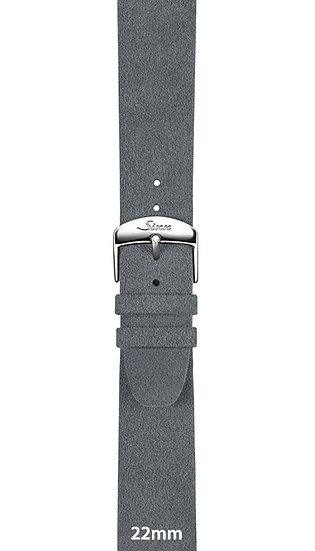 Sinn Alcantara® strap, light grey, 22mm