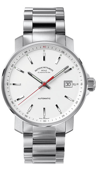 Mühle-Glashütte 29er Big white dial (steel band) M1-25-31-MB