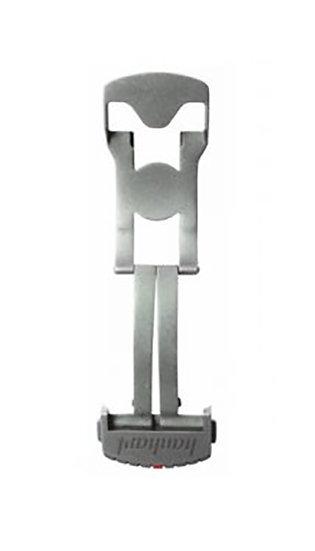 Hanhart stainless steel folding clasp, sandblasted, 24mm