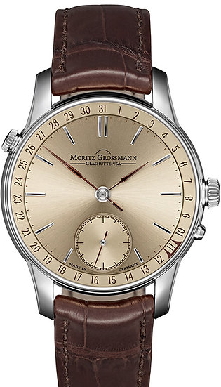 Moritz Grossmann ATUM Date White Gold Champagne