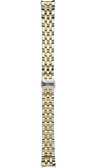 Sinn stainless steel band, fine link, polished/gold plated, 14mm