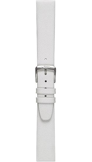 Sinn calf leather strap, white, 18mm