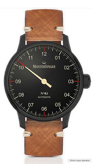 MeisterSinger No 03 Black Line AM902BL