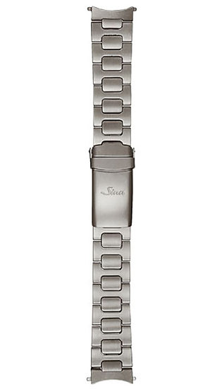 Sinn stainless steel band, two-link, Tegimented, pearl blasted, 22mm