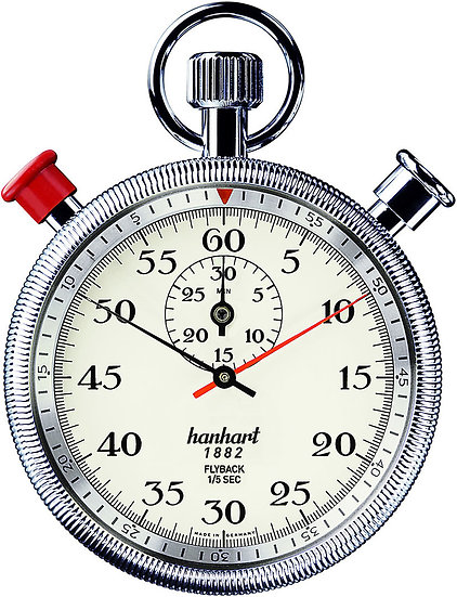 Hanhart Split Seconds Addition Timer with Flyback 135-3960-8E