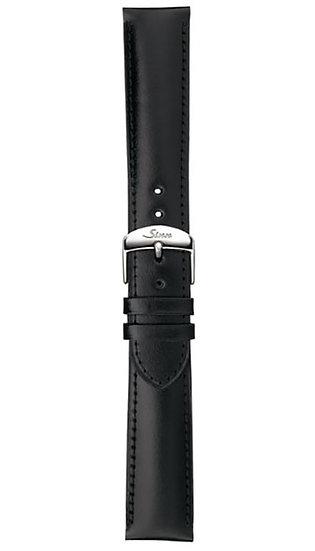 Sinn calf leather strap, black, 22mm