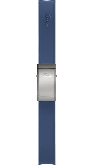 Sinn Silicone strap, blue, steel deployment clasp, 20mm