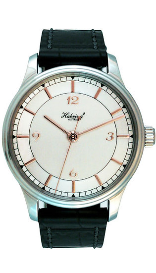 Habring² Jumping Second automatic silver dial rose gold appliques