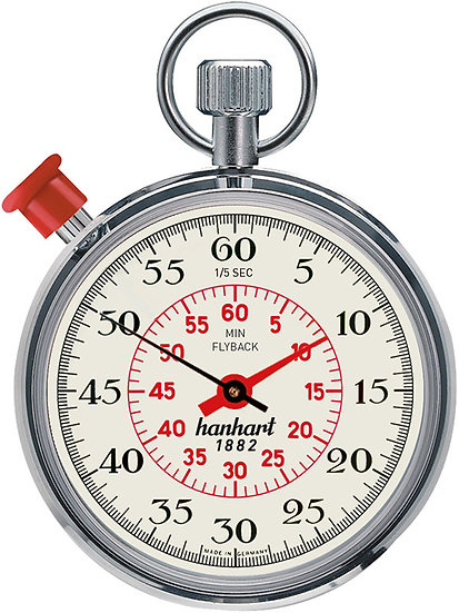 Hanhart MegaMinute Addition Timer with Flyback 185-8801-9E