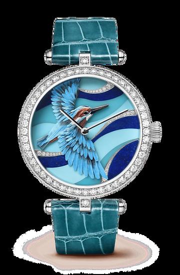 Van Cleef & Arpels Lady Arpels Martin-Pêcheur Azur Watch