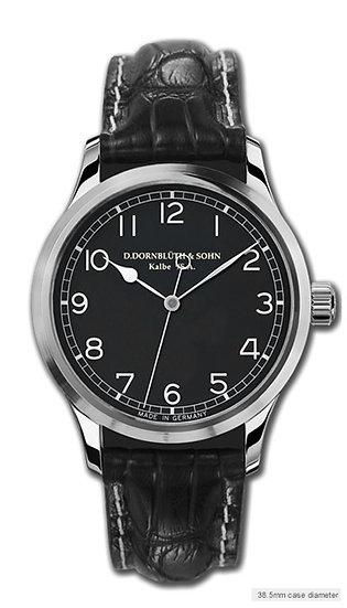 Dornblüth & Sohn Quintus Centre Second Steel Black Dial