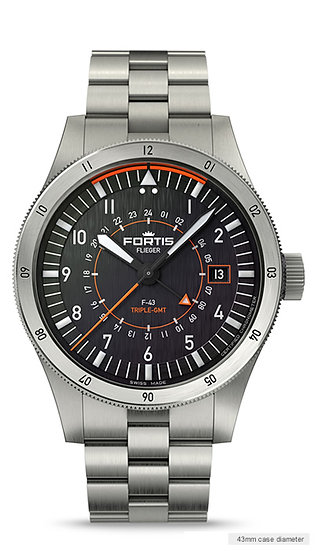 Fortis F-43 Triple GMT
