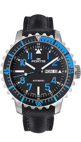 Fortis Marinemaster Day/Date Blue
