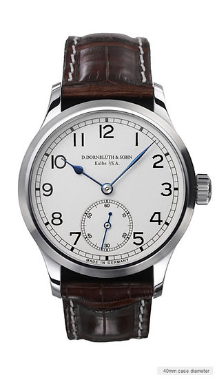 Dornblüth & Sohn Medium 99.1 Silver Dial filled numerals