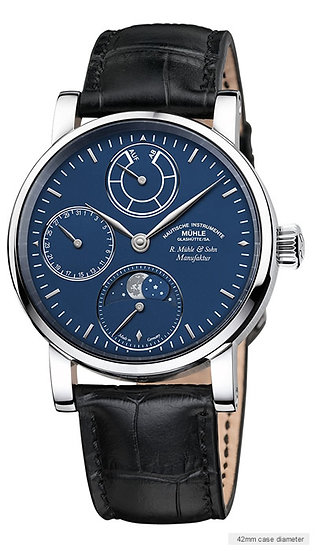 Mühle-Glashütte Robert Muehle Moon Phase Platinum (Limited to 25 pieces)