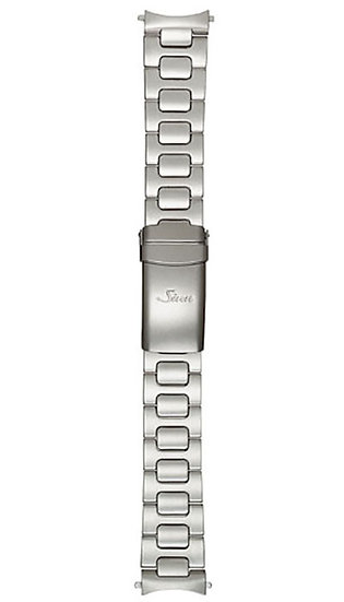 Sinn stainless steel band, two-link, pearl blasted, 22mm