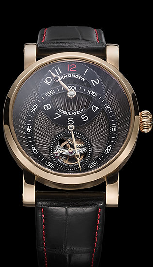 Benzinger Regulator Black Rose Gold Modern