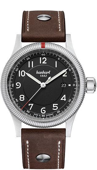 Hanhart Pioneer One Black Dial