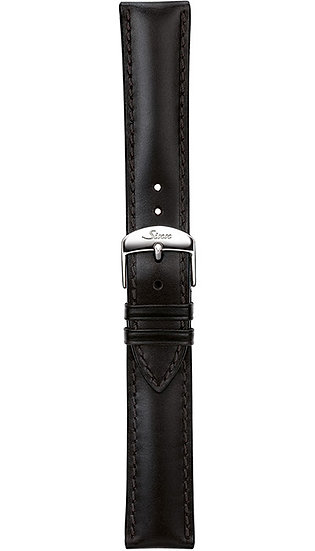 Sinn cow hide strap, black, softened, 18mm
