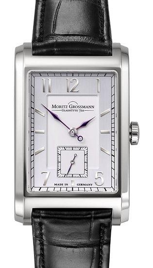 Moritz Grossmann Corner Stone White Gold Silver/Opaline Dial