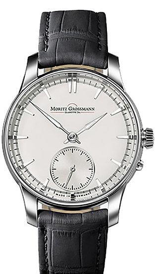 Moritz Grossmann ATUM Pure Steel white dial