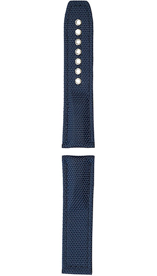 Hanhart textile band, blue, 24mm