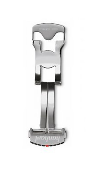 Hanhart stainless steel folding clasp, polished, 24mm