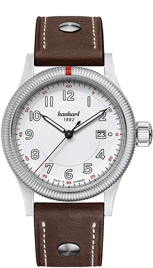 Hanhart Pioneer One White Dial