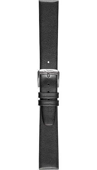 Sinn calf leather strap, black, 18mm