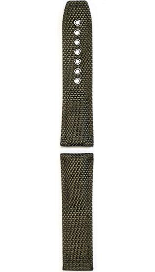 Hanhart textile band, olive, 24mm