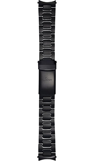 Sinn stainless steel band, two-link, Tegimented black, 20mm