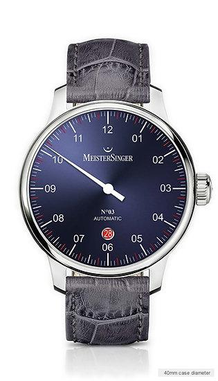 MeisterSinger No 03 Sunburst Blue DM908