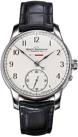Moritz Grossmann BENU Power Reserve White Gold silver dial