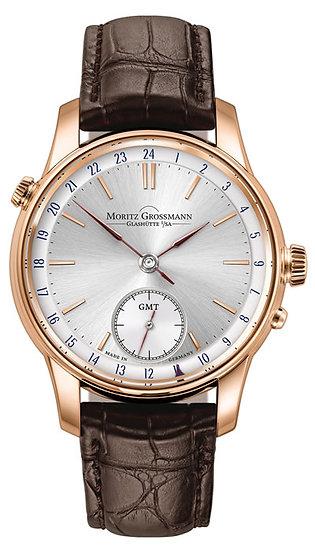 Moritz Grossmann BENU GMT Rose Gold Silver Dial