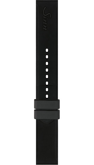 Sinn Silicone strap, black, without clasp, 22mm