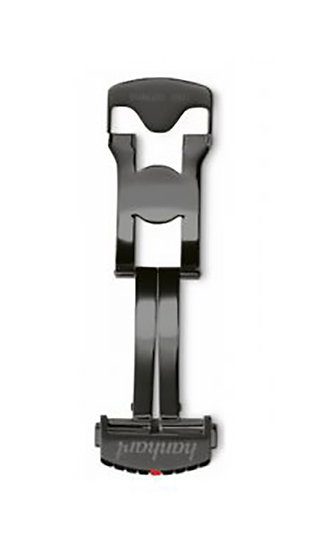 Hanhart stainless steel folding clasp, DLC coated black, 24mm