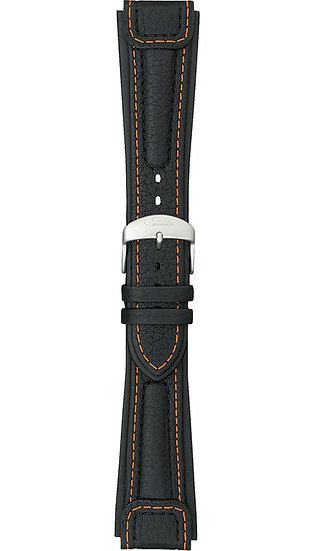 "Sinn ""Chronissimo"" cow hide band, black, orange stitching, case integration, 22m"