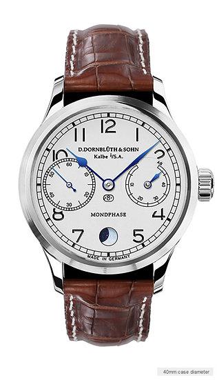 Dornblüth & Sohn 99.6-M Moon Phase silver dial