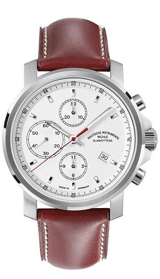 Mühle-Glashütte 29er Chronograph white dial M1-25-41-LB