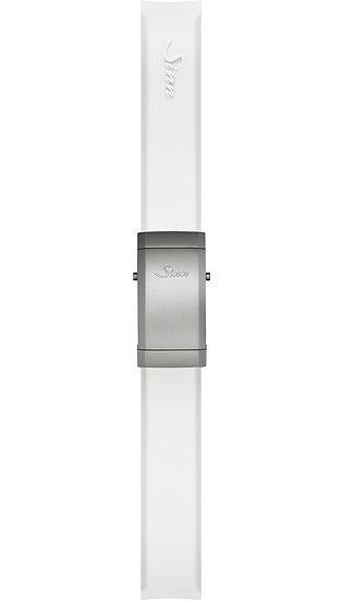 Sinn Silicone strap, white, steel deployment clasp, 18mm