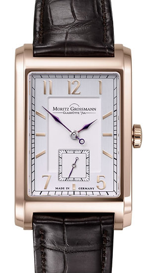 Moritz Grossmann Corner Stone Rose Gold Silver/Opaline Dial