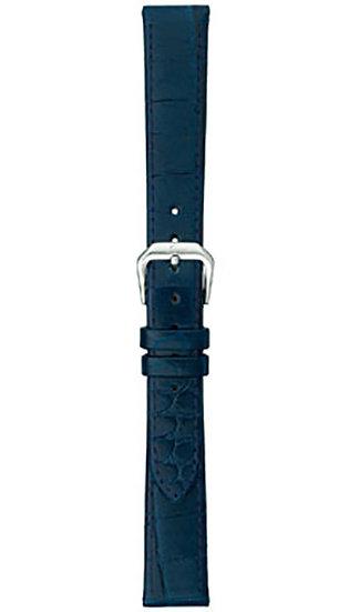 Sinn cow hide strap, ocean blue, alligator embossing, 14mm (ladies)