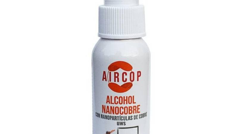 spray alcohol con nanopárticulas de cobre