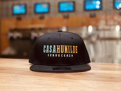 Casa Humilde Embroidered Classic Snapback Cap (Black)