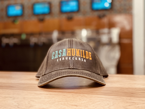 Casa Humilde Embroidered Cap (Washed Brown)