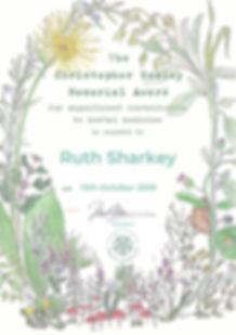 Ruth Sharkey - Christopher Wakley award
