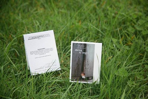 Kornered Kitten: Mini Greeting Card